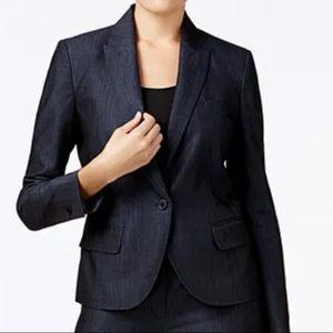 Ann Taylor navy one-button suit jacket / blazer